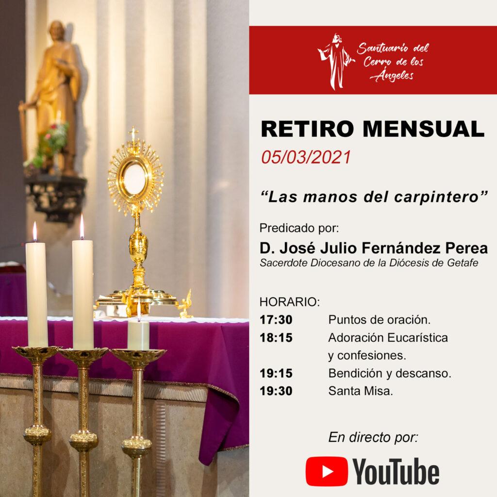 Retiro Mensual Marzo | Santuario Cerro de los Ángeles